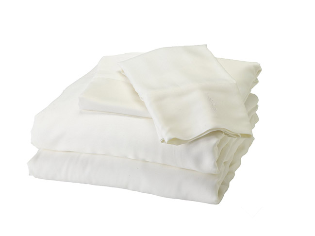 10. BedVoyage King White Bamboo Sheet Set
