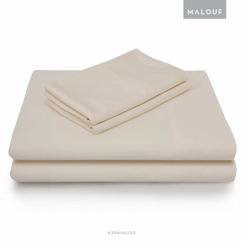 7. MALOUF Queen Ivory 4pc Bamboo Set