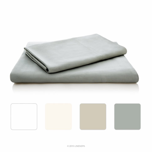 5. LinenSpa King Stone Bamboo Sheet Set