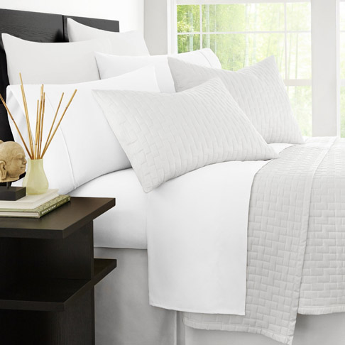 1. Zen Bamboo 4-Piece Queen White Bed Sheets
