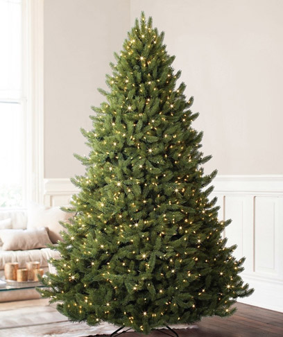 8. Balsam Hill White Spruce Artificial Prelit Christmas Tree